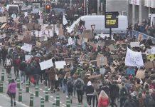 протест, Мадрид, пенсионери