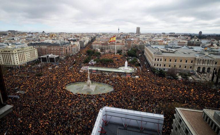 Мадрид, протест