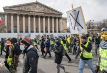 Париж, жълти протести