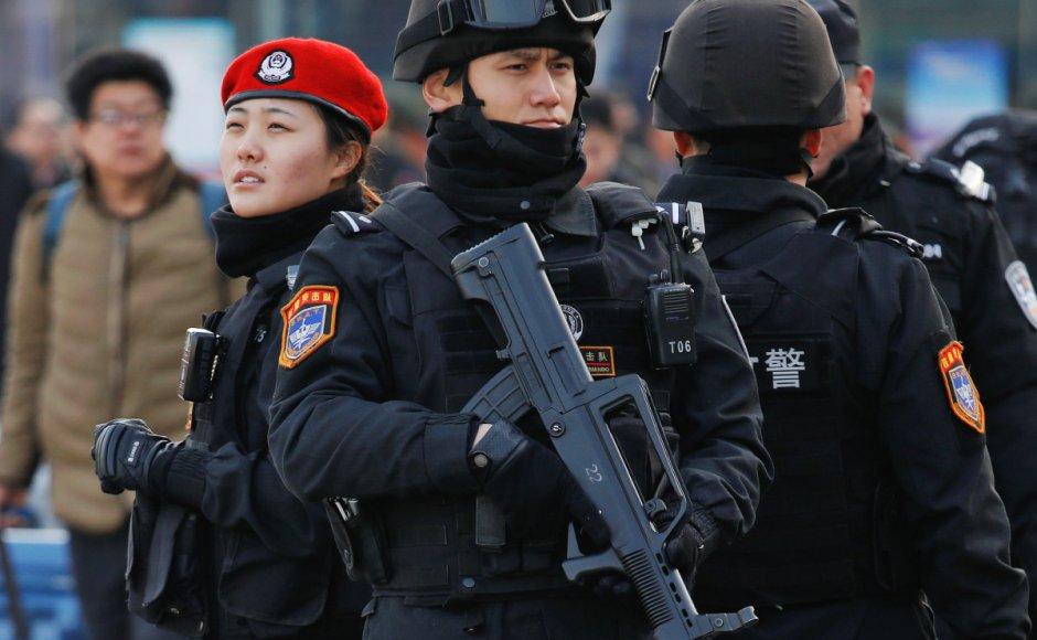Китай, полиция, експлозия