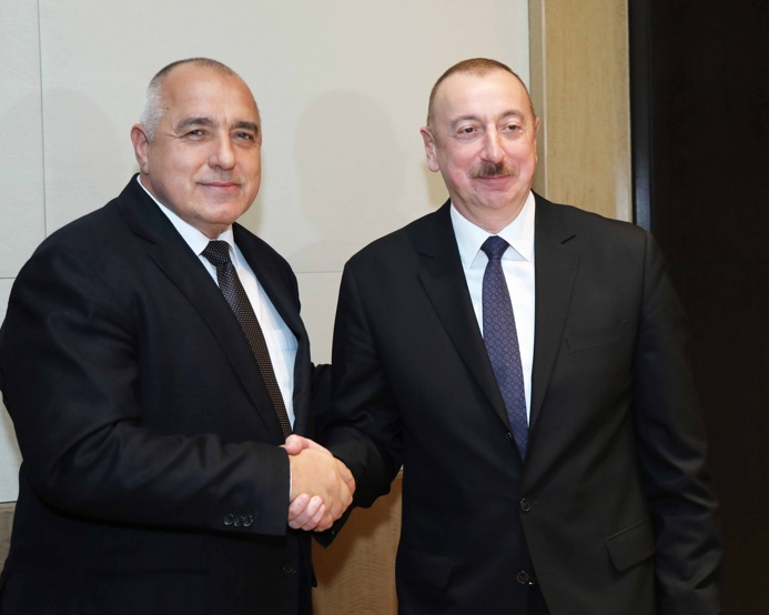 Министър-председателят Бойко Борисов и президентът на Азербайджан Илхам Алиев