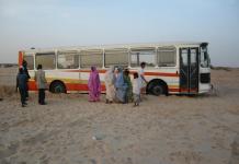 автобус, пустиня