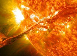 слънчево изригване, Слънце