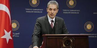 говорителят на турското външно министерство Хами Аксой