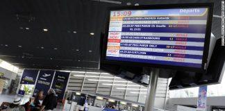 стачка, полети, Франция