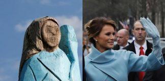 Мелания Тръмп, статуя