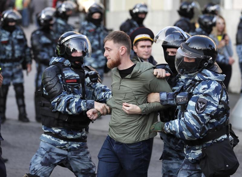 Москва, протести