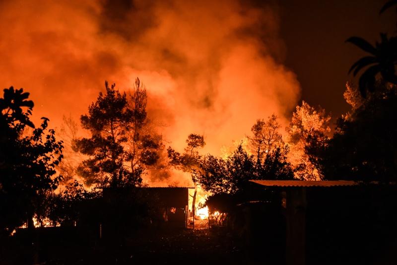 Гърция, пожари
