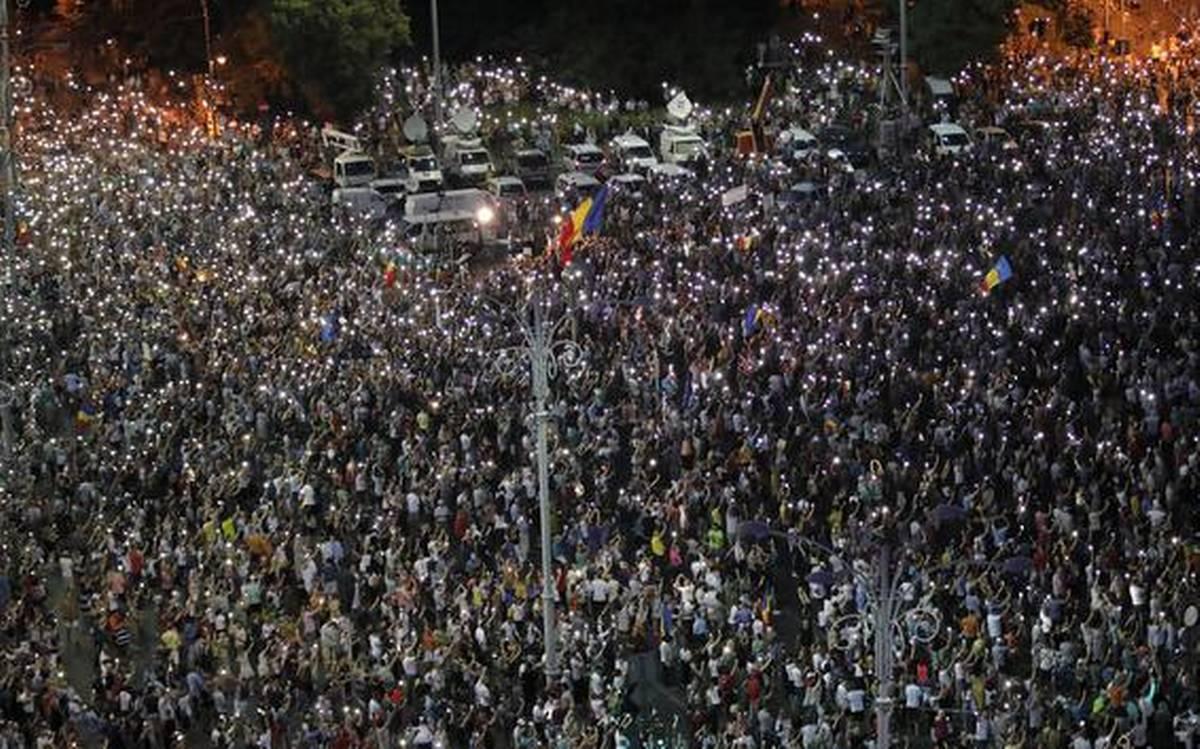 Румъния, протест