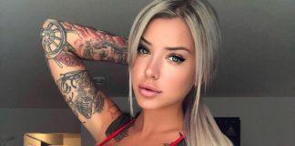 най-татуираната моделка - Лоурънс Бедард