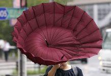 Токио, буря, тайфун