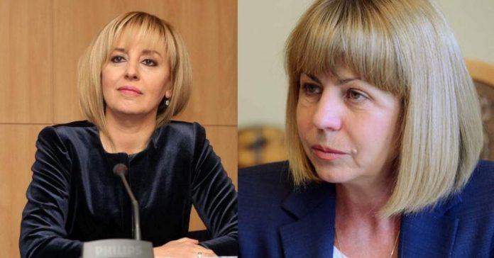 Мая Манолова и Йорданка Фандъкова