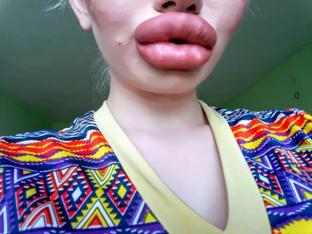 жена, устни