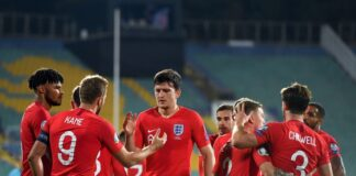 България, Англия, мач