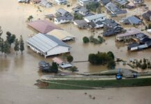 Тайфун, Япония, наводнение