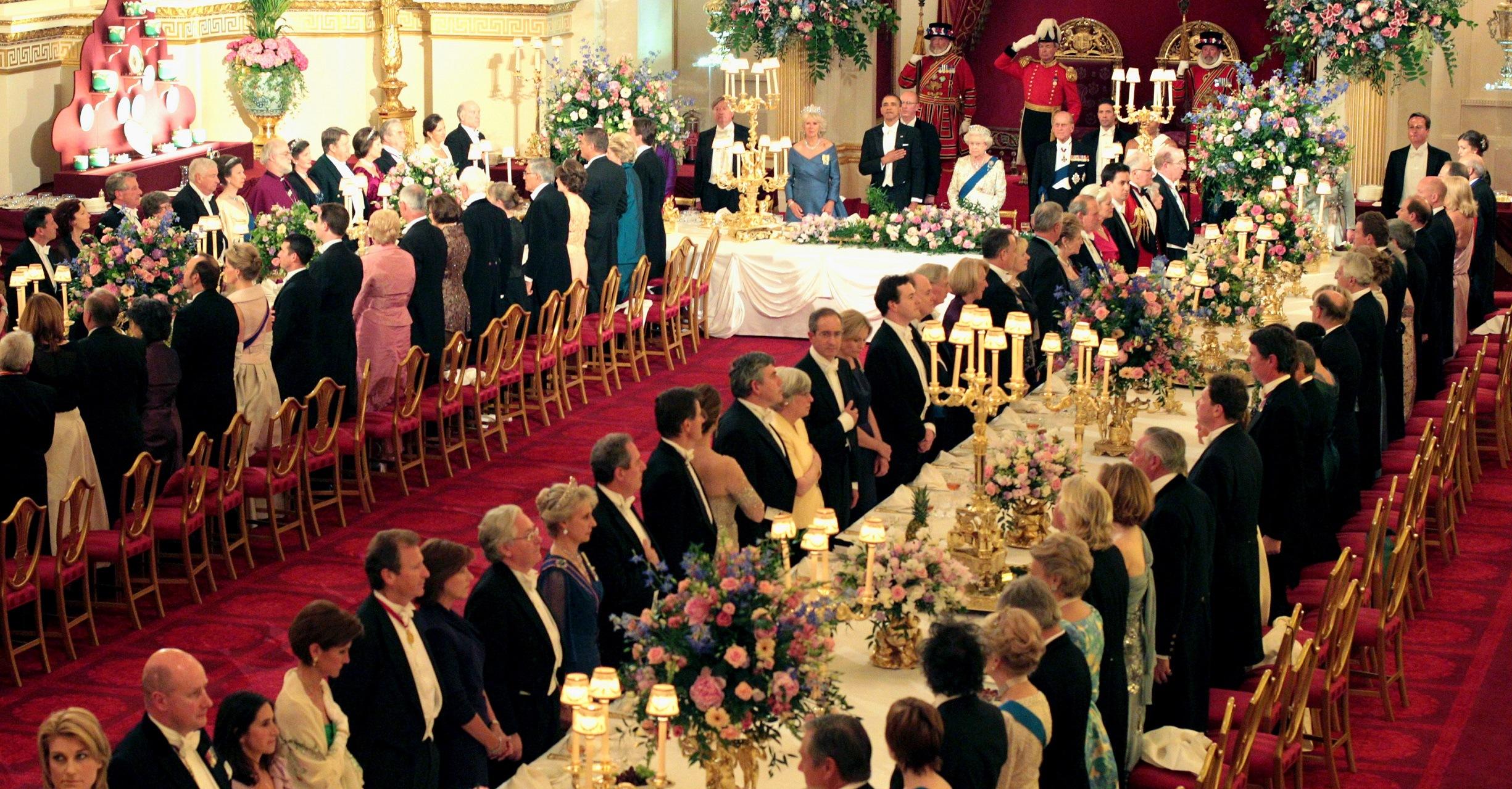 кралска вечеря, кралица