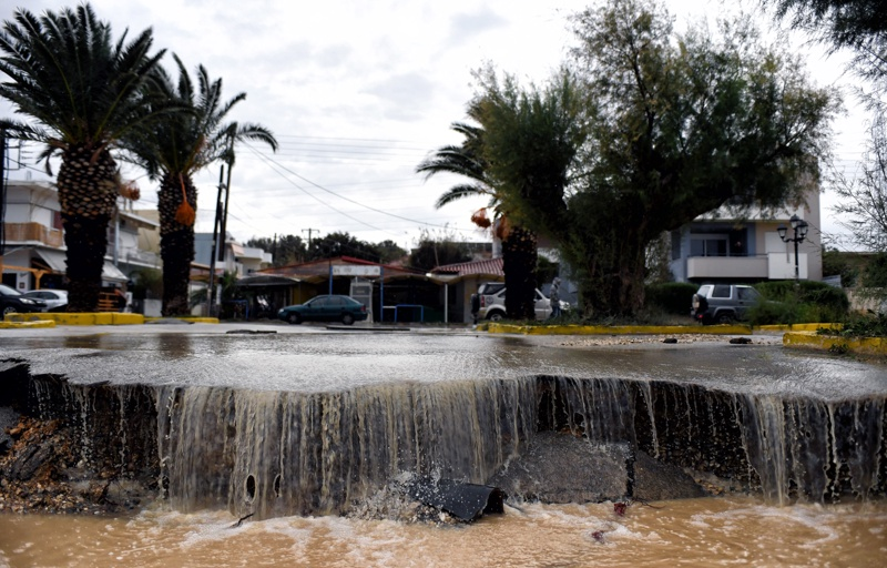 Гърция, дъжд, бедствено положение