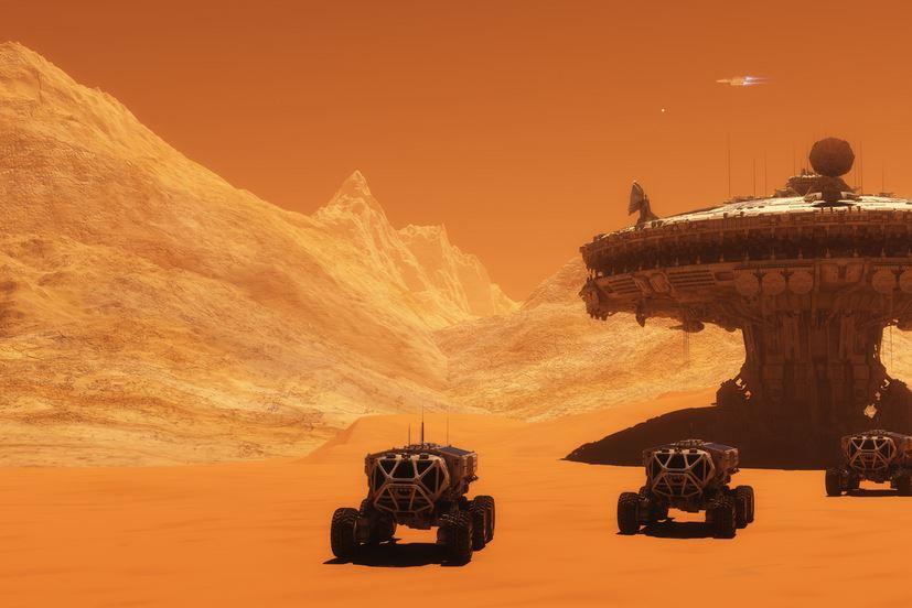 Марс, град