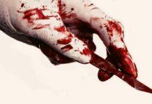 скалпел, кръв