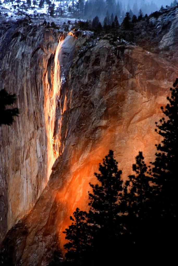 Огнен водопад, САЩ