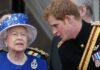 принц Хари, кралица Елизабет II