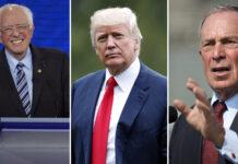 Бърни Сандърс, Доналд Тръмп, Майкъл Блумбърг