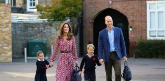 принц Джордж, принцеса Шарлон, принц Уилям, Кейт