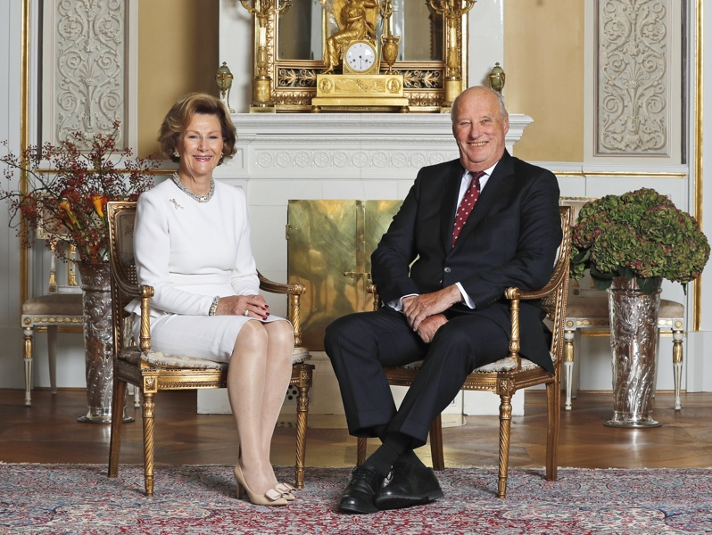Кралят на Норвегия Харалд и кралица Соня