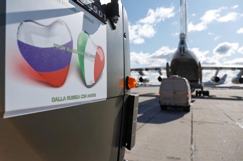 Русия, Италия, коронавирус, военни, помощ