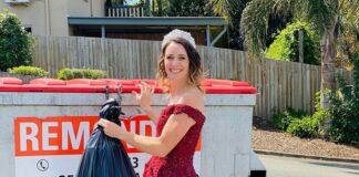 рокля, кофа за боклук