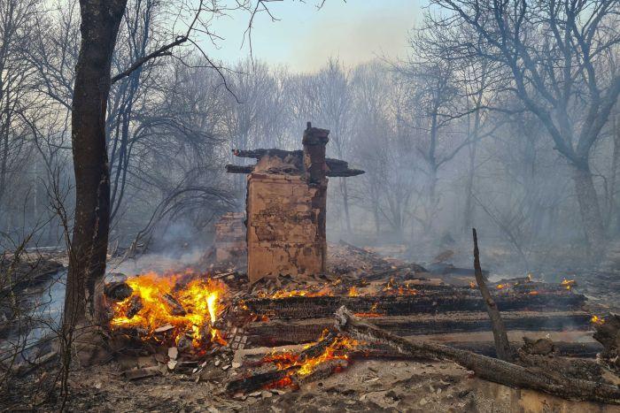Чернобил, пожар