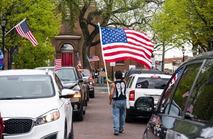 протест, САЩ, мерки, коронавирус