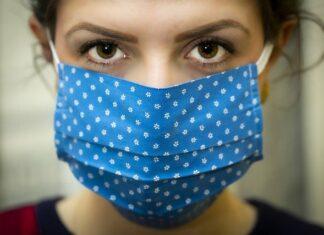 коронавирус, маска, жена