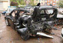 Колата на Милен Цветков след катастрофата