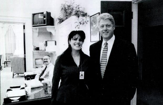 Моника Люински и Бил Клинтън