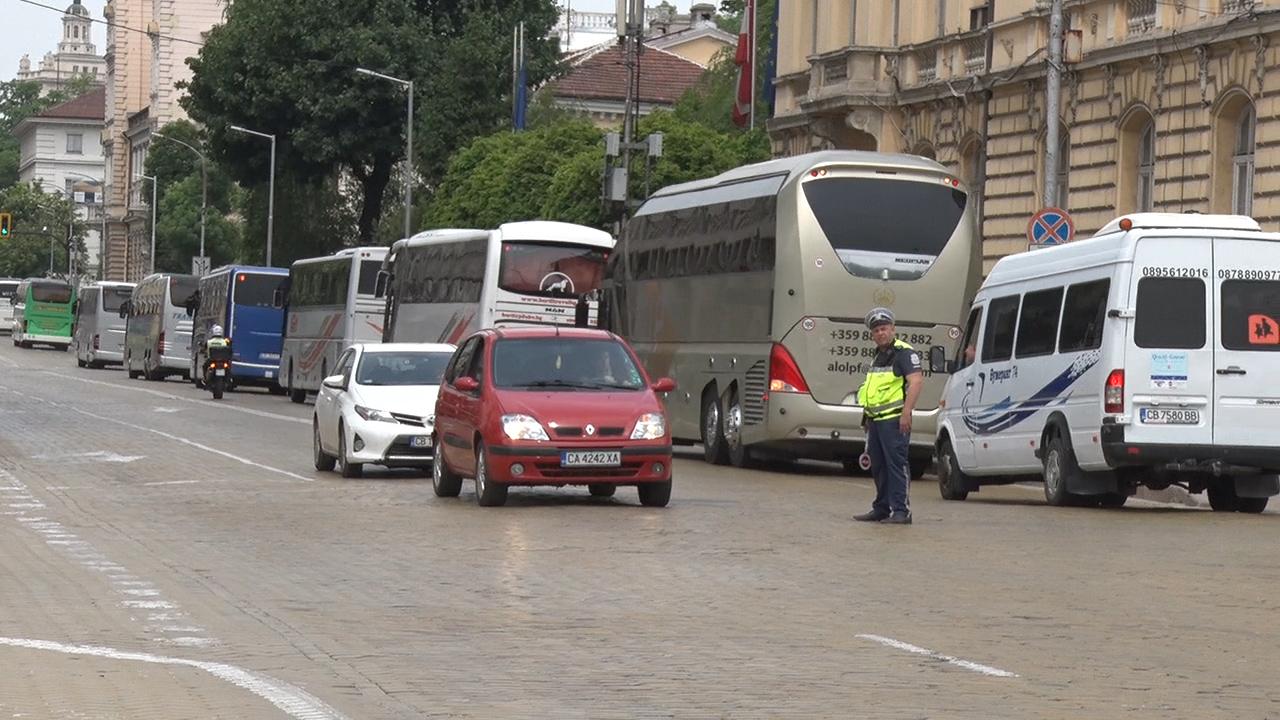 превозвачи, протест, автобуси