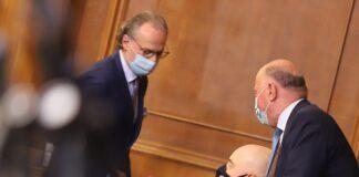 председателят на ВКС Лозан Панов, главният прокурор Иван Гешев, председателстващият ВСС Боян Магдалинчев