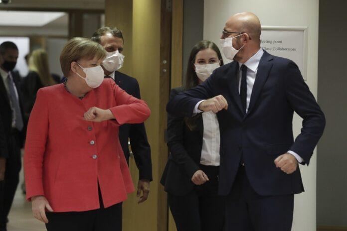 Ангела Меркел и Шарл Мишел