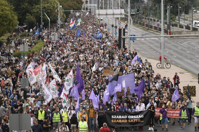 Протест Унгария