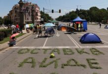 Протест оставка Орлов мост
