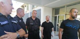 полицаи от протеста пред МС