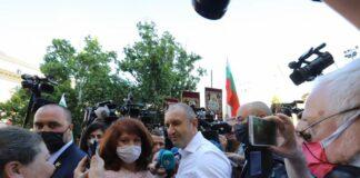 Радев, протест