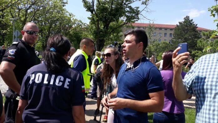 протест преди конференцията на ГЕРБ