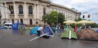палатков лагер в София