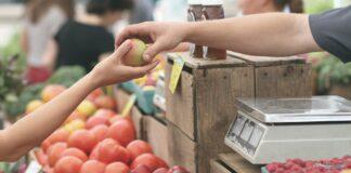 купуване, покупки, храна