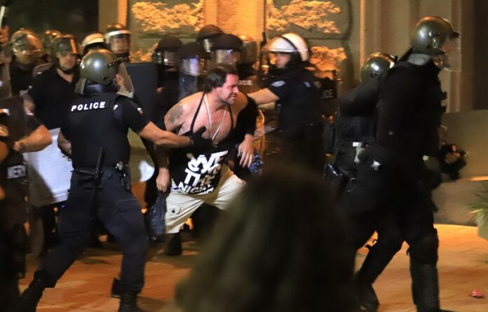 сблъсъци протест
