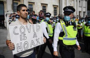 протест Лондон коронавирус