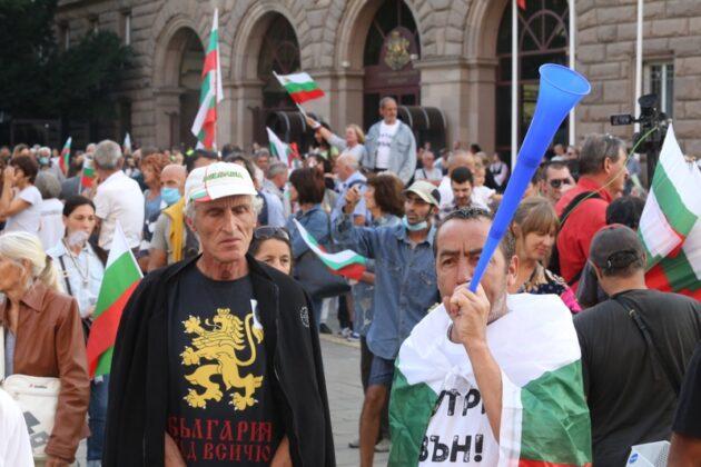 Велико народно въстание 3, протест в София