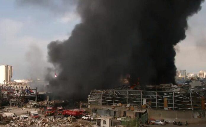 Бейрут, пожар