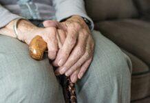 ръка, стара, жена
